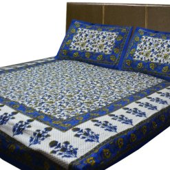 Jaipuri Printed Double Bedsheet 100% Cotton By Avioni
