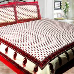 Jaipuri Double Bedsheet in Printed 100% Cotton By Avioni