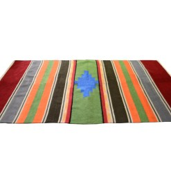 Buy Handloom Rugs (Durries) In Red Border With orange Online