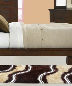 Handloom Shaggy Coffee And Beige Carpet/Bedside Runners 22X55 Inch by Avioni