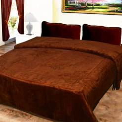 Avioni Mink Double BedBlankets Self Embossed Soft And Warm