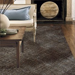 Premium Silk Brown Plain Carpet (6X4.5 Feet) by Avioni