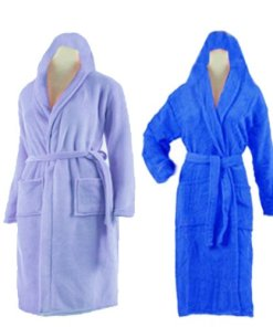 Bathrobes With Hood in Multicolor Set of 2 by Avioni
