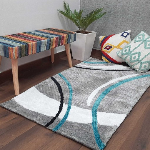 Modern Gray Beautiful patterned Carpet for Living/ Drawing Room by Avioni