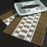 Avioni Premium Cotton Ribbed Table Mats Horizon Collection Export Quality Brown stripes ( Set of 7) …