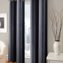 Avioni Beautiful Long Crush Stripes Window And Door Curtains Heavy Material (Set of 2)