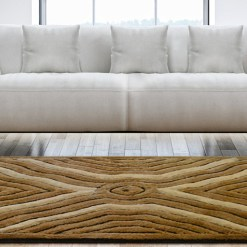 Shag Pile Carpet – Coffee  & Beige Modern Squares Design  – Contemporary Rugs by Avioni  – Best Seller