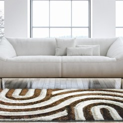Beautiful Shag Rugs – Modern Carpet – Coffee Cream Carpet in 3D -Contemporary Design – Avioni  – Factory Prices