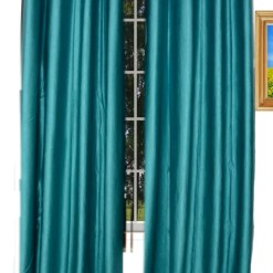 Avioni Home Fancy  Eyelet Curtain Heavy Aqua Crush Material (set of 2)