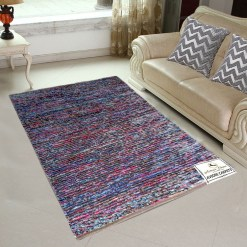 Avioni Rugs Multicolor Rug/ Carpet For Living Room Actual Feather Touch- Softness-Handloom Made Reversible Light Weight   -3 Feet X 5 Feet