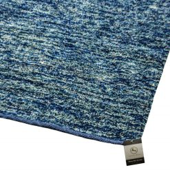 Avioni Blue Shades Feather Touch Rug-Handloom Made Reversible Light Weight   -3 Feet X 5 Fee