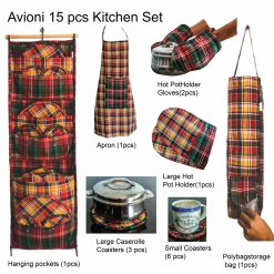 Wise Wife Favourite Kitchen Organiser Set of 15 Pcs by Avioni ( Assorted Colours) – A Solution to Keep Your Kitchen Neat and Tidy
