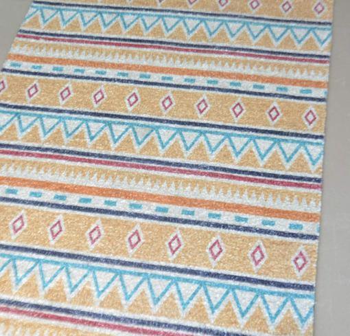 Avioni Carpets for Living Room – Neo Modern Collection Beige-Blue Carpet/Rug – 92x 152 cm (3×5 Feet)