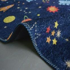Silk Carpet Kids Collection  – Astronauts In Sky Kids Room Rug -Avioni