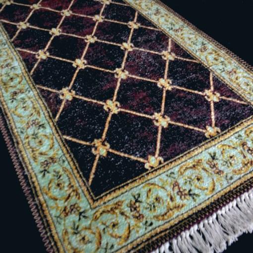 Silk Carpet Persian Design Collection Purple  – Living Room Rug – 3×5 Feet  (90 x 150 cms)-Avioni