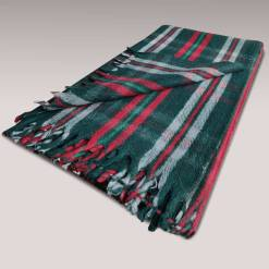 Single Wool Blanket Sale | Woollen Blanket Tartan Design| Single Bed Green Shade Multicolour
