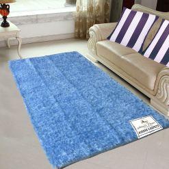 Fur Rug For Living Room|Light Blue|By Avioni|122×182 cm|4×6 Feet
