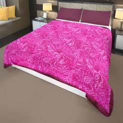 Purple Quilt (Rajai)|Double Bed|Winters Microfiber Filling Heavy Weight|Tie-Die Design|Avioni