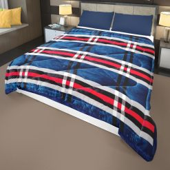 Buy Quilt Online|Double Bed | Quilt( Rajai)  For Winters| Microfiber Filling |Blue Royal | Avioni