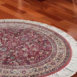 Avioni Persian Carpets For Living Room – Round -Red