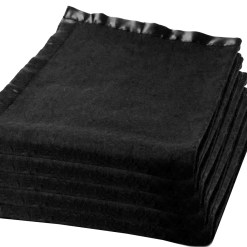 Blanket Combo – Wool Blankets Black With Ultra Satin On Borders- set of 5 blankets – MSF