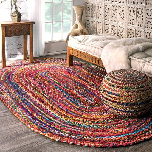 SAVE 5% MORE WITH OUR COTTON CHINDI OVAL CARPETS AND CHINDI/JUTE POUF –  Avioni