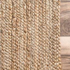 Natural Organic Jute Handmade Braided Rugs  Jute Large Area Rug Avioni- Premium Collection-3.75X6.5 Feet cm