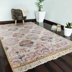 Silk Carpet Ethnic Premium Living Room Rug Beige -Avioni