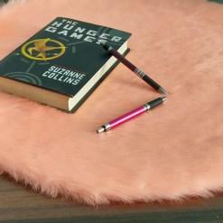 Shaggy Carpet  –  Premium  Fur – 60 cm Round – Avioni Carpets- Baby Pink Colour (1+1- set of 2 )