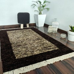 Avioni Carpet Silk Neo Collection- Luxury Modern Border Tiedye Design – Brown