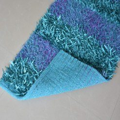Buy Bed Side Runner /Shaggy Rugs(56 X 140 ) In Blue By Avioni