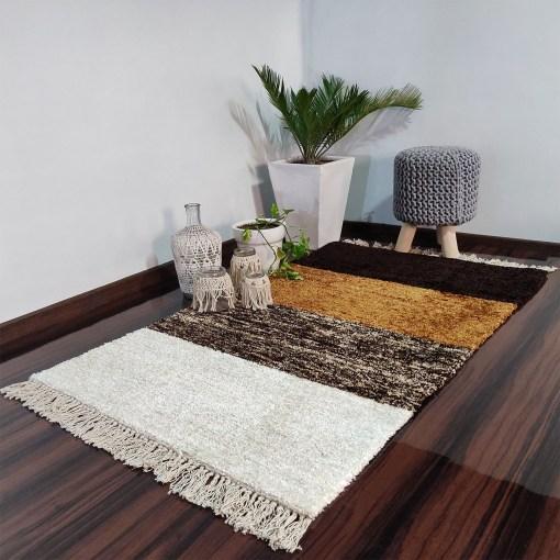 Avioni Carpets for Living Room/Pooja Room – Neo Modern Collection Brown Gradients Carpet/Rug – 90cm x 150cm (~3×5 Feet)