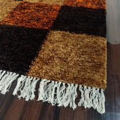 Avioni Carpets for Living Room/Pooja Room – Neo Modern Collection Orange Tie-Dye Box Carpet/Rug – 90cm x 150cm (~3×5 Feet)