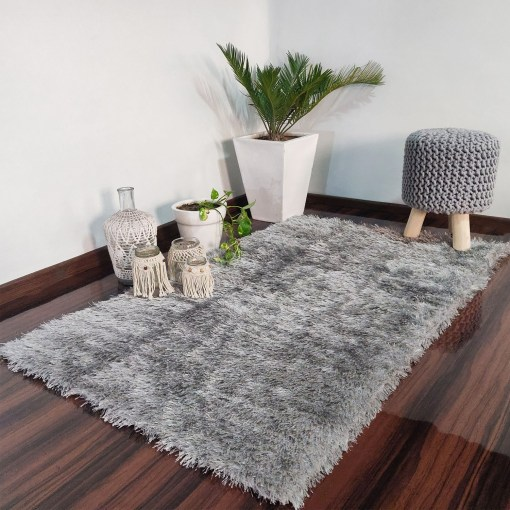 Avioni Rugs Silver Fur Carpets For Living Room-Limited Period Value Deal