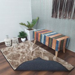 Avioni Shaggy Carpets in Beautiful Brown Diamonds Modern Pattern Luxury Look