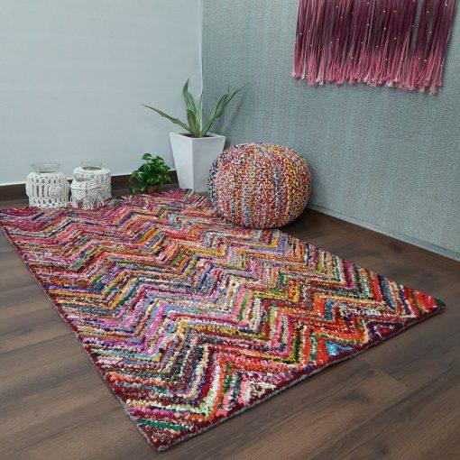 Chindi Carpet –  Multicolour Cotton Carpet  – 120cm x 180cm (~4×6 Feet) –  Avioni