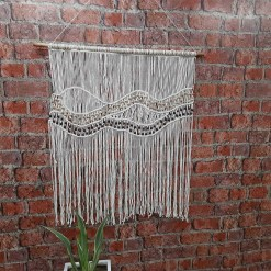 Avioni Home Boho Collection – Hand-Knotted Wall Hanging – 90cm x 100cm