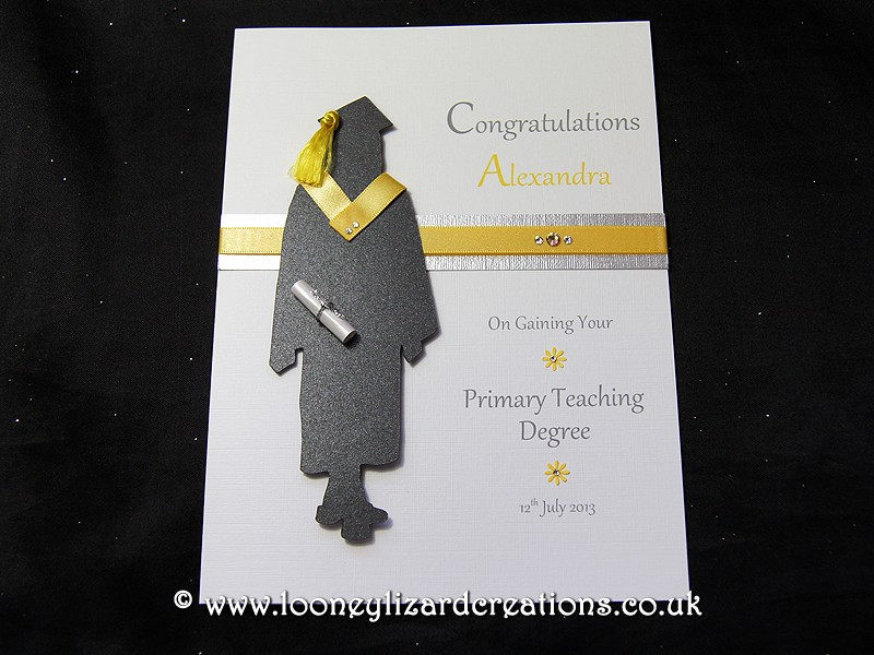 The Graduate Female Handmade Graduation Card