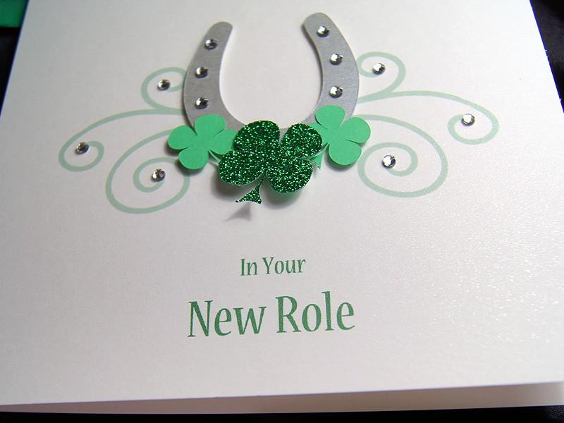 Lucky Horseshoe Handmade Good Luck Card