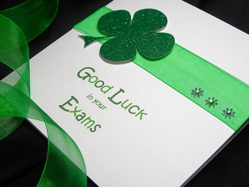 Lucky Clover Good Luck Handmade Card