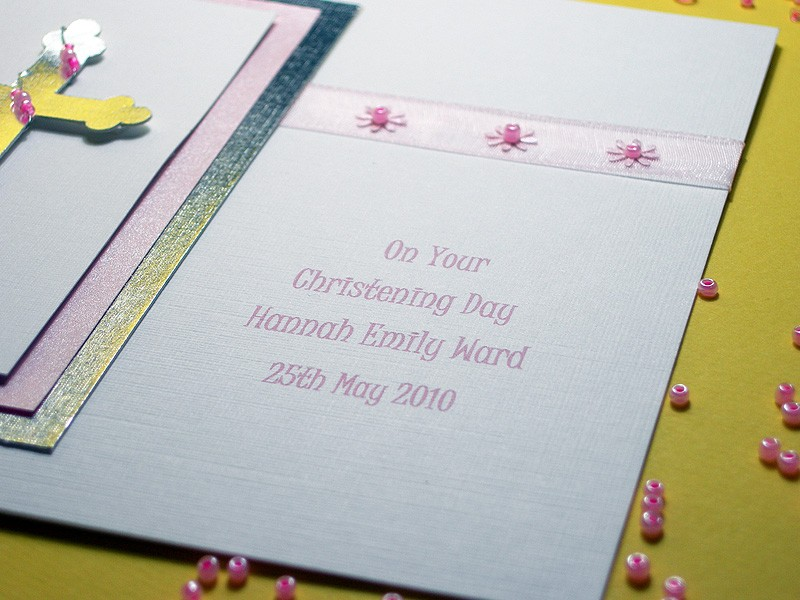 Zara Handmade Christening Card