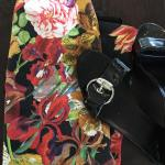 Blommönstrad pennkjol
