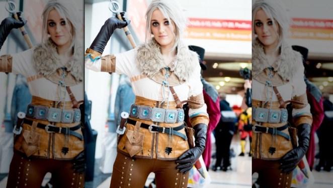 Ciri with sword cosplay