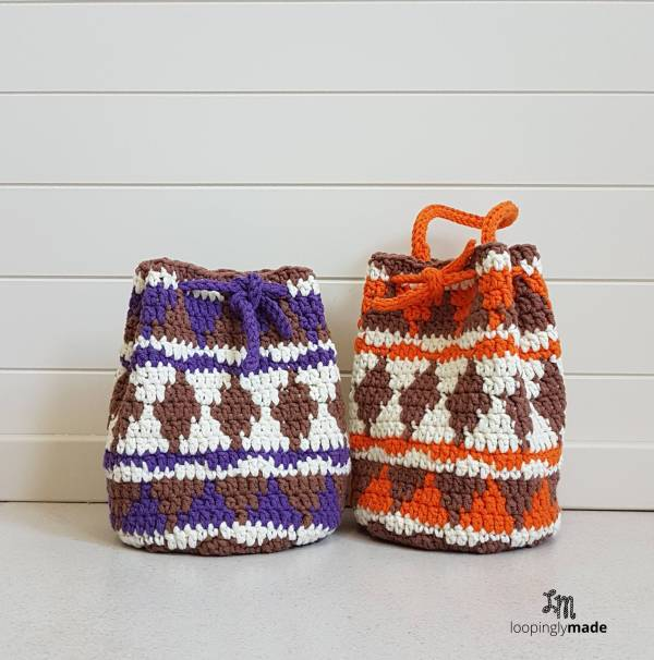 Native Print Drawstring Bag Free Crochet Pattern Gorgeous Drawstring Bag Pattern