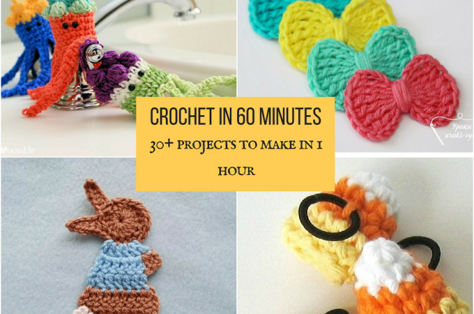 Crochet in 60 miuntes- 30+ Projects to make in 1 hour
