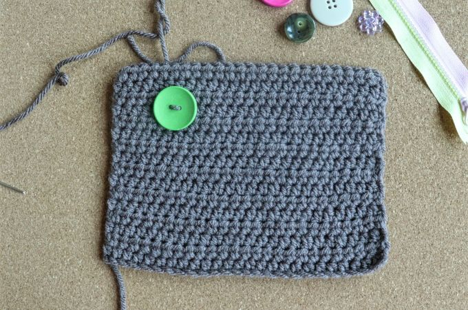 How to Sew Notions on Crochet Fabric.