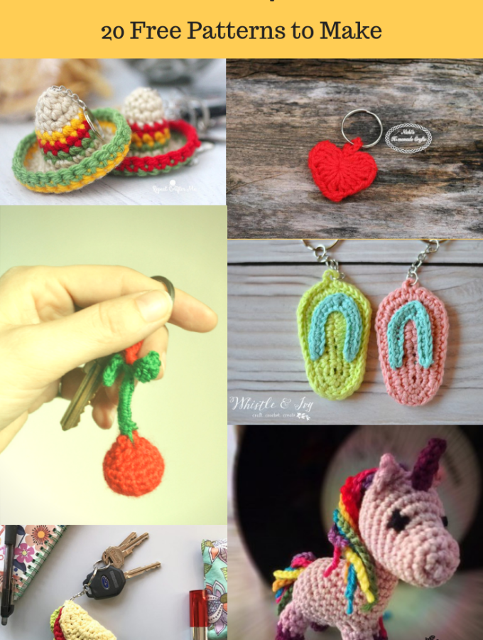 Crochet Keychains- 20 Cute and Fun Patterns to Make