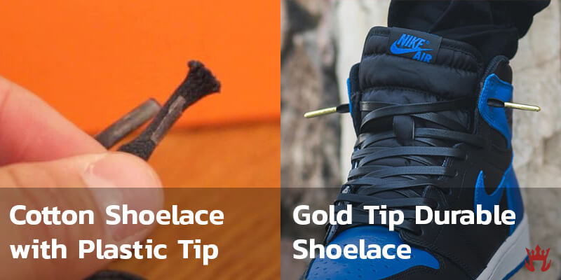 Gold Tip Shoelace Durability vs Normal Cotton Shoelace that Frays