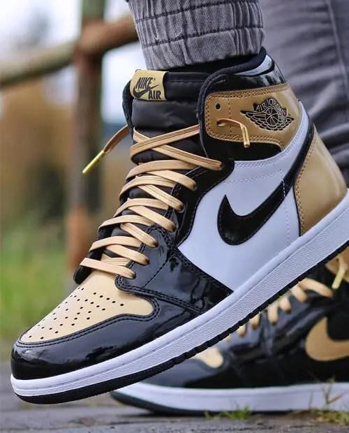 Jordan 1 Gold Toe Shoelaces