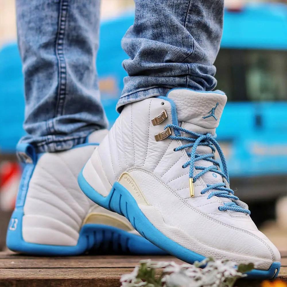 Jordan 12 Blue Grey Rope Shoelaces